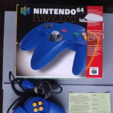 Videojuegos y Consolas: NINTENDO 64 MANDO CONTROLLER AZUL BLUE CON CAJA ORIGINAL MUY BUEN ESTADO N64 R8287. Lote 147073094