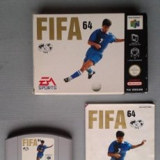 Videojuegos y Consolas: NINTENDO 64 FIFA 64 COMPLETO CON CAJA MANUAL MUY POCO USO CIB PAL N64 VER!!! R8298. Lote 147338038