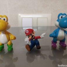 Videojuegos y Consolas: 3X FIGURAS PVC SUPER MARIO Y YOSHI NINTENDO. Lote 149466974