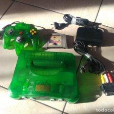 Videojuegos y Consolas: NINTENDO 64 N64 GREEN JUNGLE CON MANDO Y CABLES + EXPANSION PAK PAL-VERSION. Lote 151503242