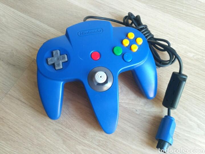 MANDO OFICIAL DE COLOR AZUL PARA NINTENDO 64 (Juguetes - Videojuegos y Consolas - Nintendo - Nintendo 64)