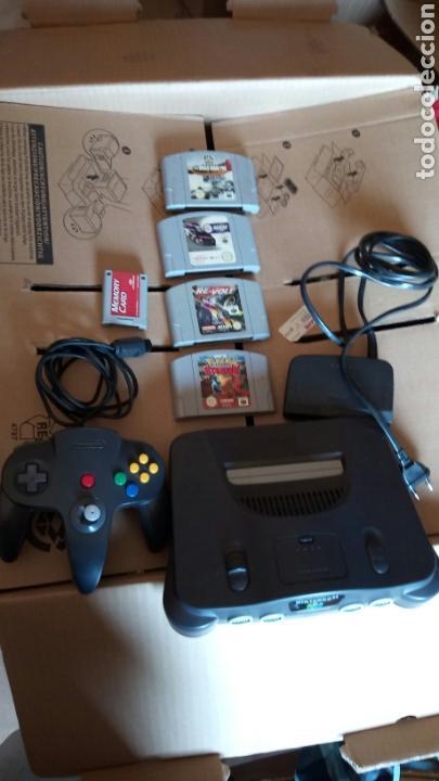 NINTENDO 64 +JUEGOS 4.+ MEMORY CARD (Juguetes - Videojuegos y Consolas - Nintendo - Nintendo 64)