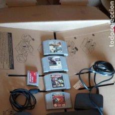 Videojuegos y Consolas: NINTENDO 64 +JUEGOS 4.+ MEMORY CARD. Lote 131250864