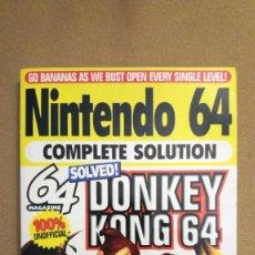 Videojuegos y Consolas: GUÍA EN INGLÉS DE DONKEY KONG 64, EN PERFECTO ESTADO. Lote 158597582