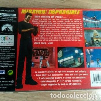 Videojuegos y Consolas: NINTENDO 64 JUEGO MISSION : IMPOSSIBLE VERSIÓN PAL - Foto 4 - 160087654