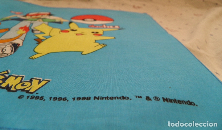 Videojuegos y Consolas: PAÑUELO POKÉMON,BY BELLTEX,1998 NINTENDO.TM & NINTENDO,A ESTRENAR - Foto 3 - 165511810