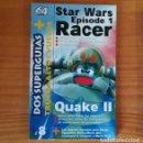 Videojuegos y Consolas: STAR WARS RACER / QUAKE II, SUPERGUIAS. SUPLEMENTO REVISTA 64 MAGAZINE. NINTENDO 64. Lote 165717070