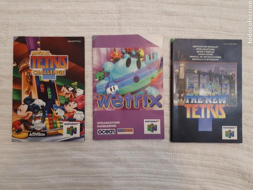 LOTE WETRIX, THE NEW TETRIS, MAGICAL TETRIS CHALLENGE. NINTENDO 64 ANTIGUO MANUAL INSTRUCCIONES (Juguetes - Videojuegos y Consolas - Nintendo - Nintendo 64)