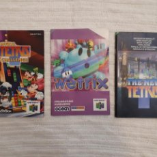 Videojuegos y Consolas: LOTE WETRIX, THE NEW TETRIS, MAGICAL TETRIS CHALLENGE. NINTENDO 64 ANTIGUO MANUAL INSTRUCCIONES. Lote 166127934