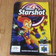 Videogiochi e Consoli: MANUAL INSTRUCCIONES STARSHOT SPACE CIRCUS FEVER NINTENDO 64. Lote 167551544