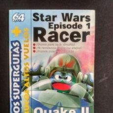 Videojuegos y Consolas: SUPERGUÍA MAGAZINE 64 NÚMERO 8 - STAR WARS EPISODE 1 RACER - QUAKE II. Lote 173415322