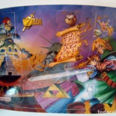 Videojuegos y Consolas: PEGATINA PARA NINTENDO 64 DE THE LEGEND OF ZELDA OCARINE OF TIME. Lote 174081754
