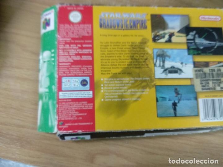 Videojuegos y Consolas: Star Wars shadows of the empire - Nintendo 64 - N64 - PAL uk - - Foto 3 - 176218595