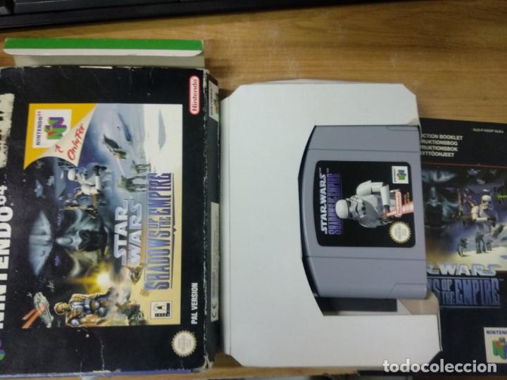 Videojuegos y Consolas: Star Wars shadows of the empire - Nintendo 64 - N64 - PAL uk - - Foto 5 - 176218595
