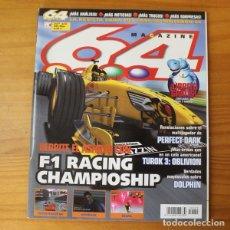Videojuegos y Consolas: 64 MAGAZINE 29, NINTENDO F1 RACING CHAMPIONSHIP, ZELDA, PERFECT DARK, RIDGE RACER.... Lote 178120964