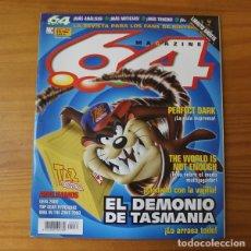 Videojuegos y Consolas: 64 MAGAZINE 33, NINTENDO EL DEMONIO DE TAZMANIA, PERFECT DARK, THE WORLD IS NOT ENOUGHT.... Lote 178121115