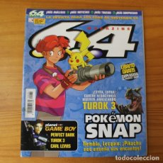 Videojuegos y Consolas: 64 MAGAZINE 34, NINTENDO TUROK 3, POKEMON SNAP, ISS 2000, OGRE BATTLE, WWF NO MERCY.... Lote 178121147