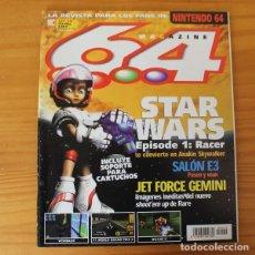 Videojuegos y Consolas: 64 MAGAZINE 19, NINTENDO STAR WARS EPISODE I RACER, JET FORCE GEMINI, WINBACK.... Lote 178639066