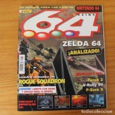 Videojuegos y Consolas: 64 MAGAZINE 12, NINTENDO ZELDA, ROGUE SQUADRON, TUROK 2, RAYMAN 2, TONIC TROUBLE, F-ZERO X.... Lote 178639270