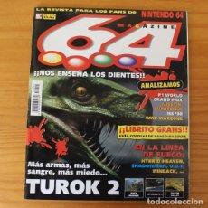 Videojuegos y Consolas: 64 MAGAZINE 10, NINTENDO TUROK 2, BUCK BUMBLE, EXTREME G2, MISSION IMPOSSIBLE, SHADOWMAN.... Lote 178639315