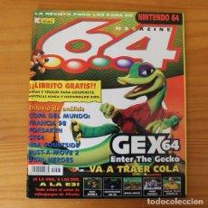 Videojuegos y Consolas: 64 MAGAZINE 7, NINTENDO GEX 64, EARTHWORM JIM 3D, SPACE CIRCUS, TWELVE TALES CONKER.... Lote 178639405