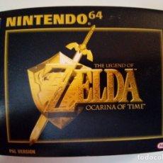 Videojogos e Consolas: JUEGO DE N64 THE LENGEND OF ZELDA OCARINA OF TIME COMPLETO+GUIA TEXTOS-CAJA MUY BUEN ESTADO-VER FOTO. Lote 178733820