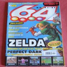 Videojuegos y Consolas: 64 MAGAZINE Nº 13 - NINTENDO 64 - ZELDA - PERFECT DARK - CASTLEVANIA - BODY HARVEST - KNIFE EDGE. Lote 178849556