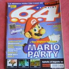Videojuegos y Consolas: 64 MAGAZINE Nº 17 - NINTENDO 64 - MARIO PARTY - CASTLEVANIA - SHADOWMAN - GOEMON 2. Lote 178850521