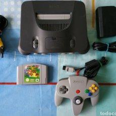 Videojuegos y Consolas: CONSOLA NINTENDO 64 N64 CON JUEGO SUPER MARIO. Lote 179031280