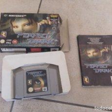 Videojuegos y Consolas: PERFECT DARK NINTENDO 64 N64 COMPLETO PAL-ESPAÑA PAL-EUROPA. Lote 180164043