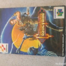 Videojuegos y Consolas: MANUAL CASTLEVANIA NINTENDO 64 N64 PAL-ESPAÑA PAL-EUROPA. Lote 180164303