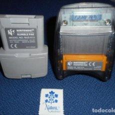 Videojuegos y Consolas: RUMBLE PAK Y TRANFER PAK PARA NINTENDO 64. Lote 294952313