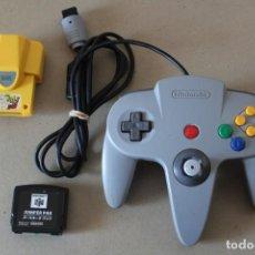 Videojuegos y Consolas: CONSOLA NINTENDO 64 - MANDO, RUMBLE PACK Y JUMPER PAK. Lote 213591398