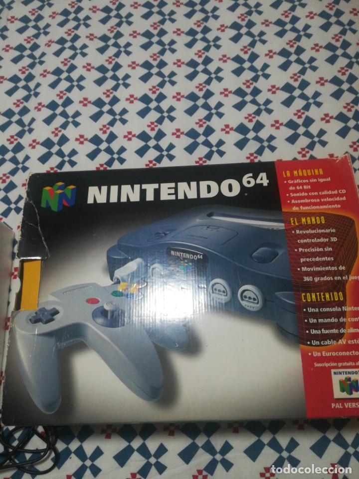 CONSOLA NINTENDO 64,EN CAJA, CON JUEGO DE SÚPER MARIO (Juguetes - Videojuegos y Consolas - Nintendo - Nintendo 64)