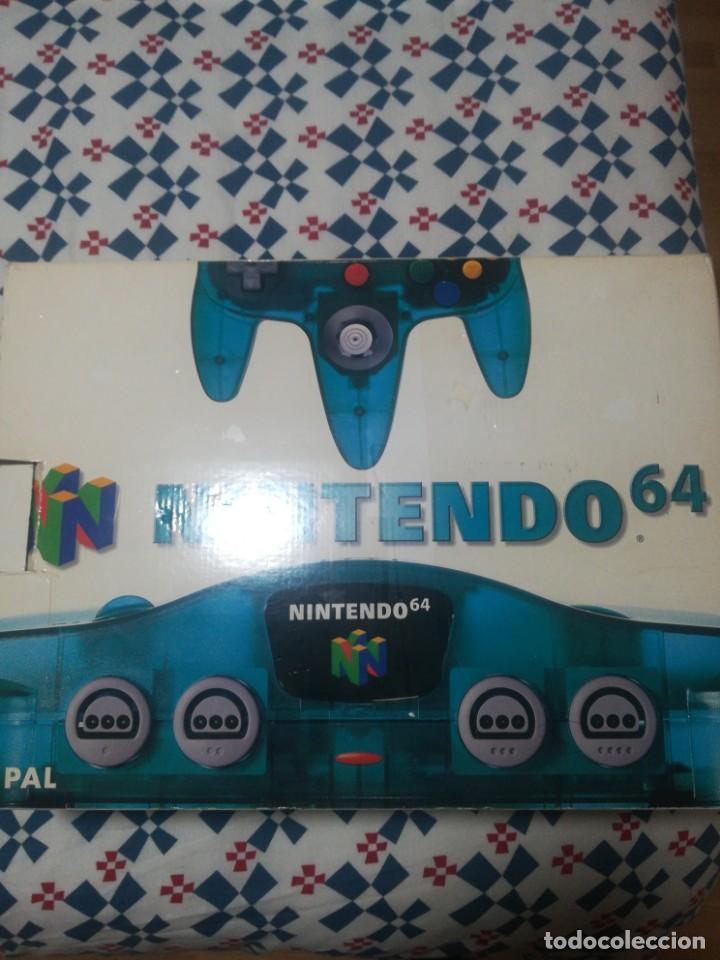 CONSOLA NINTENDO 64, PAL. COLOR AZUL. EXCELENTE (Juguetes - Videojuegos y Consolas - Nintendo - Nintendo 64)