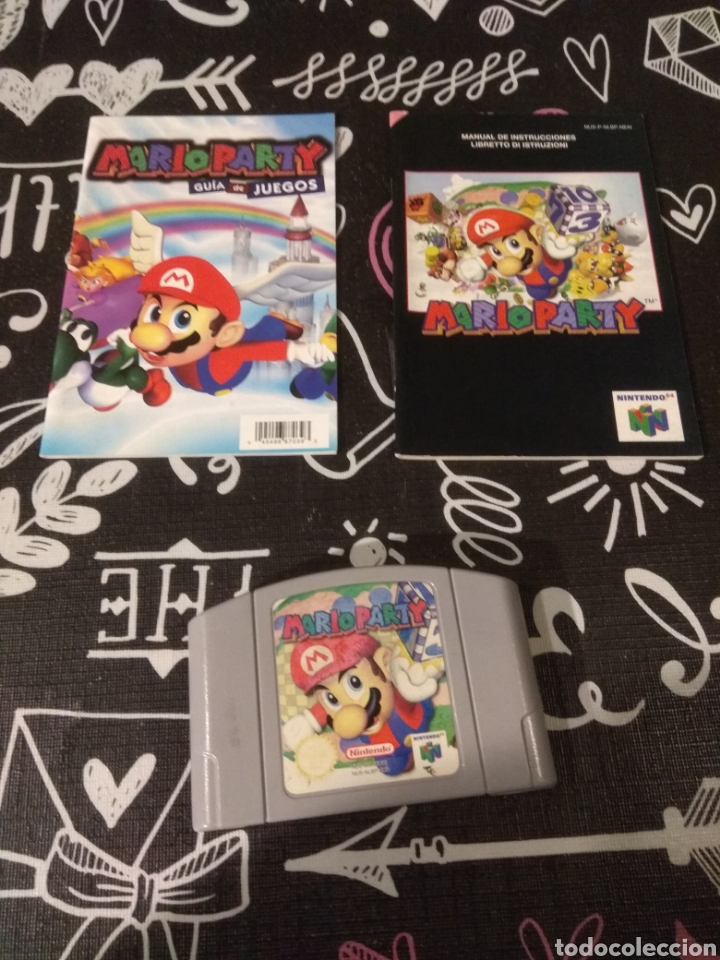 CARTUCHO, MANUAL DE INSTRUCCIONES Y GUIA DE JUEGOS MARIO PARTY NINTENDO64 (Juguetes - Videojuegos y Consolas - Nintendo - Nintendo 64)