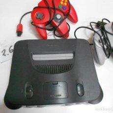 Videojuegos y Consolas: ANTIGUA CONSOLA NINTENDO 64 Y MANDO DE CONTROL MAS TARJETA MEMORIA. Lote 198363586