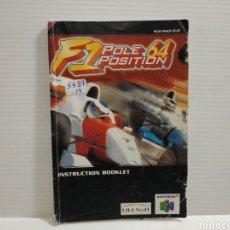 Videojuegos y Consolas: MANUAL F1 POLE POSITION 64 NINTENDO 64. Lote 198757052