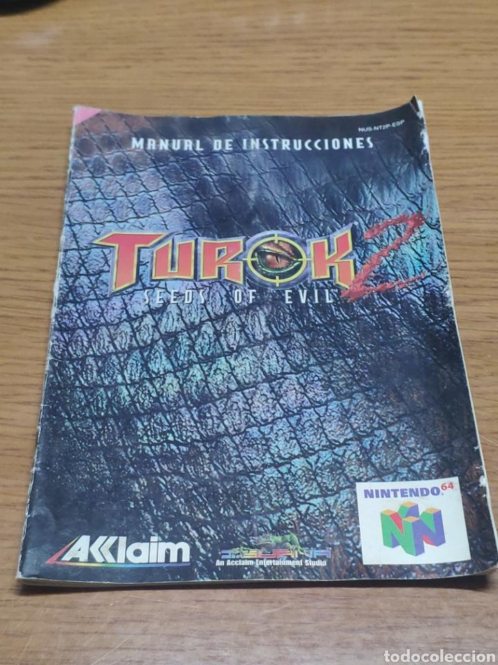 NINTENDO 64 MANUAL DE INSTRUCCIONES TUROK 2 (Juguetes - Videojuegos y Consolas - Nintendo - Nintendo 64)
