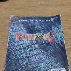 Videojuegos y Consolas: NINTENDO 64 MANUAL DE INSTRUCCIONES TUROK 2. Lote 198925428