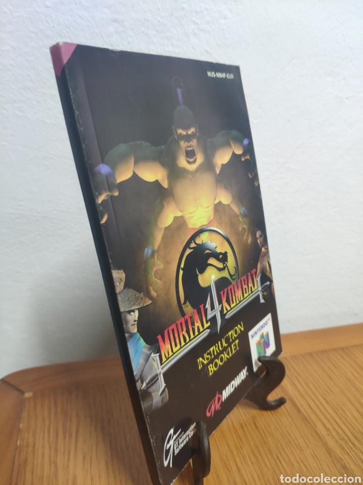 Videojuegos y Consolas: Nintendo 64 manual de instrucciones mortal kombat 4 - Foto 2 - 198932807