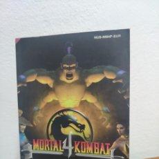 Videojuegos y Consolas: NINTENDO 64 MANUAL DE INSTRUCCIONES MORTAL KOMBAT 4. Lote 198932807