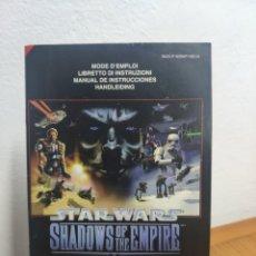 Videojuegos y Consolas: MANUAL INSTRUCCIONES NINTENDO 64 STAR WARS SHADOWS OF THE EMPIRE. Lote 198934216