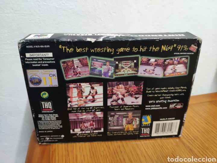 Videojuegos y Consolas: Juego completo todo original WrestleMania 2000 nintendo 64 n64 caja manual etc. - Foto 4 - 199113940