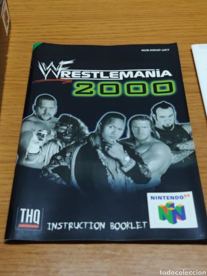 Videojuegos y Consolas: Juego completo todo original WrestleMania 2000 nintendo 64 n64 caja manual etc. - Foto 8 - 199113940