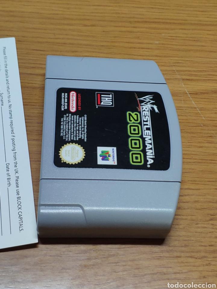 Videojuegos y Consolas: Juego completo todo original WrestleMania 2000 nintendo 64 n64 caja manual etc. - Foto 11 - 199113940