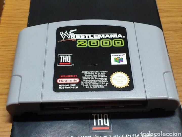 Videojuegos y Consolas: Juego completo todo original WrestleMania 2000 nintendo 64 n64 caja manual etc. - Foto 13 - 199113940