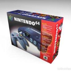 Videojuegos y Consolas: CAJA NINTENDO 64 REPRODUCCIÓN (NO INCLUYE LA CONSOLA). Lote 204705396