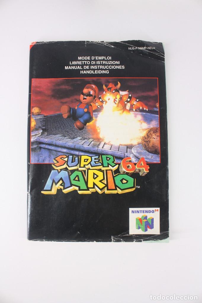 Videojuegos y Consolas: Super Mario 64 completo PAL / cartucho manual poster cartón original - Nintendo 64 / N64,1996 - Foto 6 - 207113966