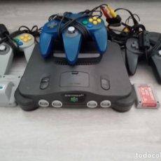 Videojuegos y Consolas: PACK VIDEOCONSOLA NINTENDO 64 MANDOS+RUMBLE PAK+MEMORY CARD+CABLEADO. Lote 211881743